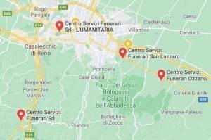 Centro Servizi Funerari Bologna - Mappa